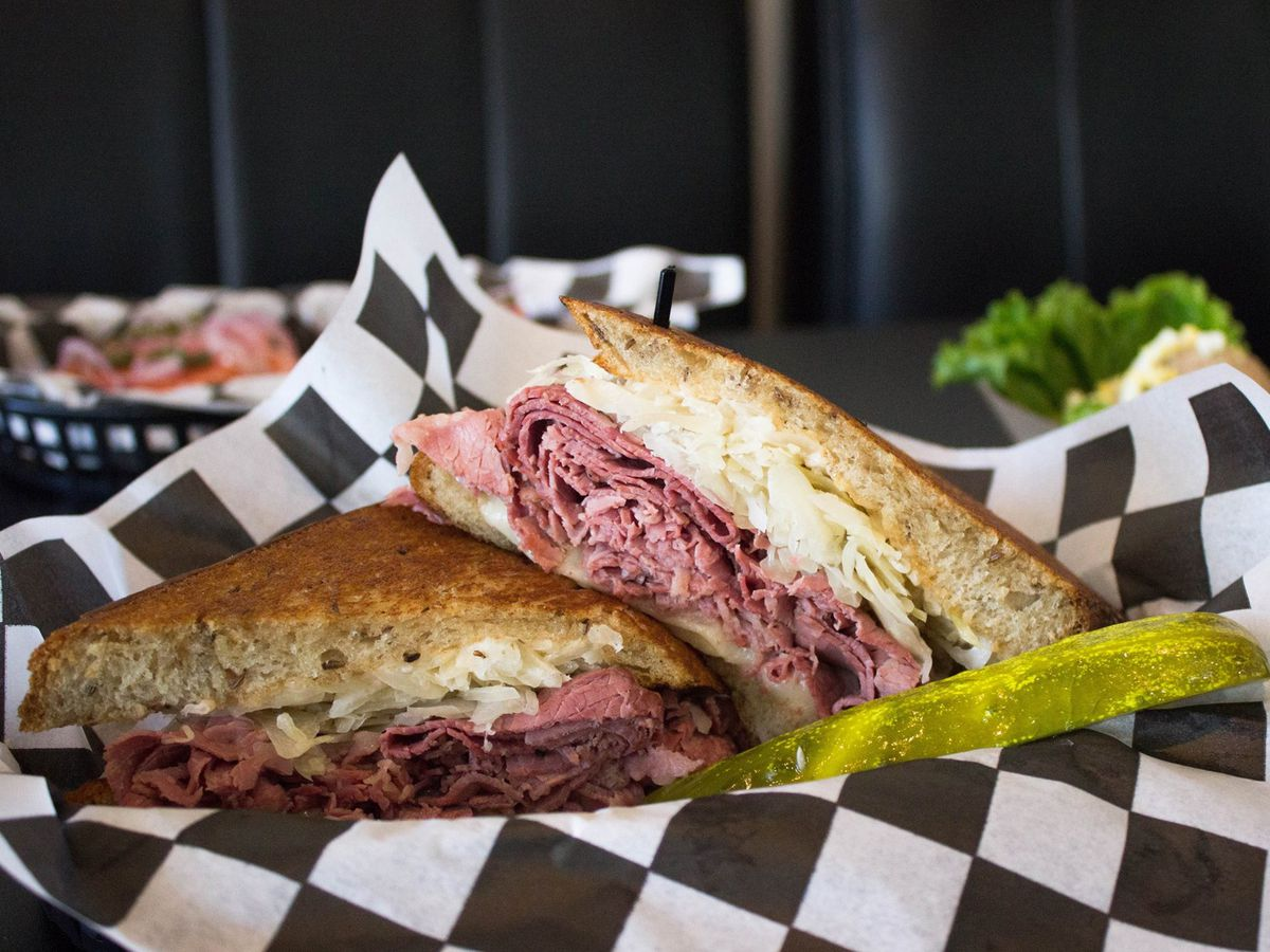 Biderman's Deli's Reuben sandwich