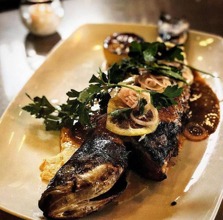The whole fish at Moona is done with harissa