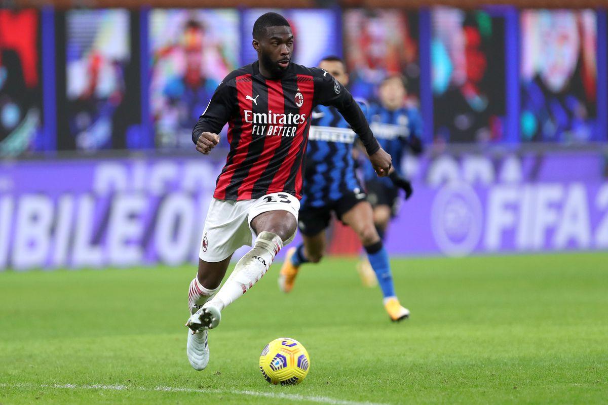 Fikayo Tomori of Ac Milan in action during the Coppa Italia...