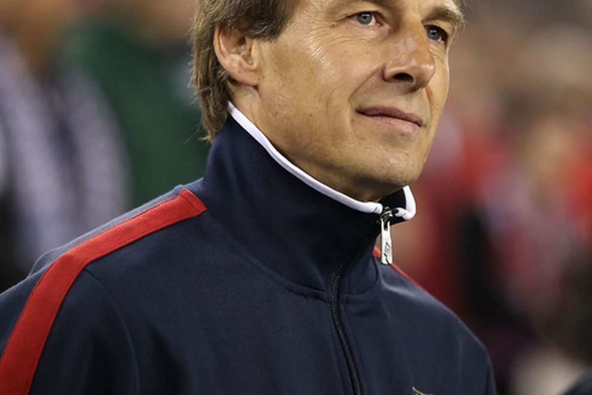 GLENDALE, AZ - JANUARY 21:  Head coach Jurgen Klinsmann of USA makes Arizona look cold, while I'm freezing in Missouri  (Photo by Christian Petersen/Getty Images)