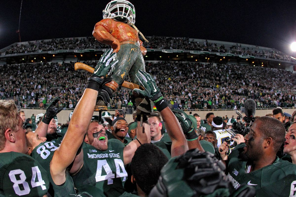 Michigan State is looking to keep Mr. Bunyan in East Lansing for another year