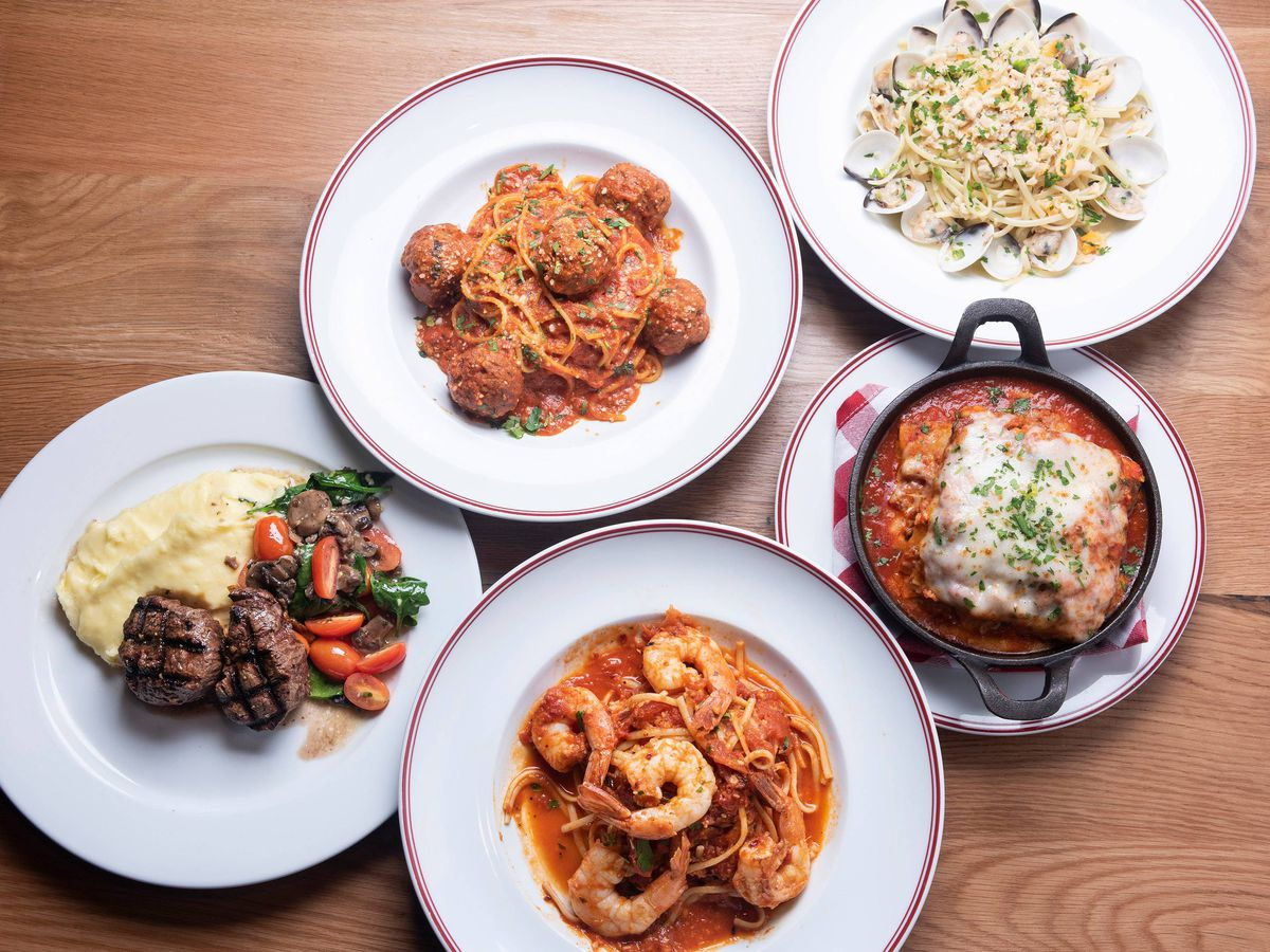 An array of Italian dishes