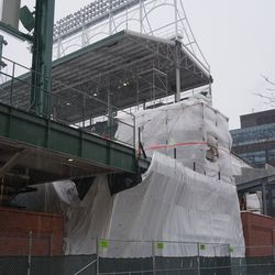 New construction, in the left field corner