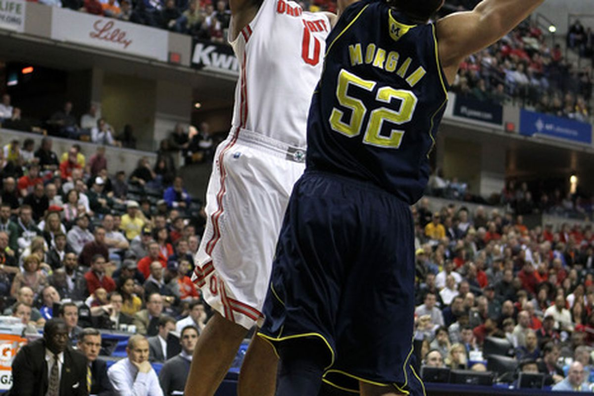 Despite being double teamed for much of the game, Sullinger still managed 14 points and 13 rebounds.
