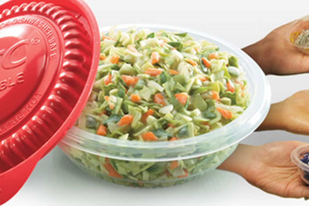 KFC's new reusable sides container.