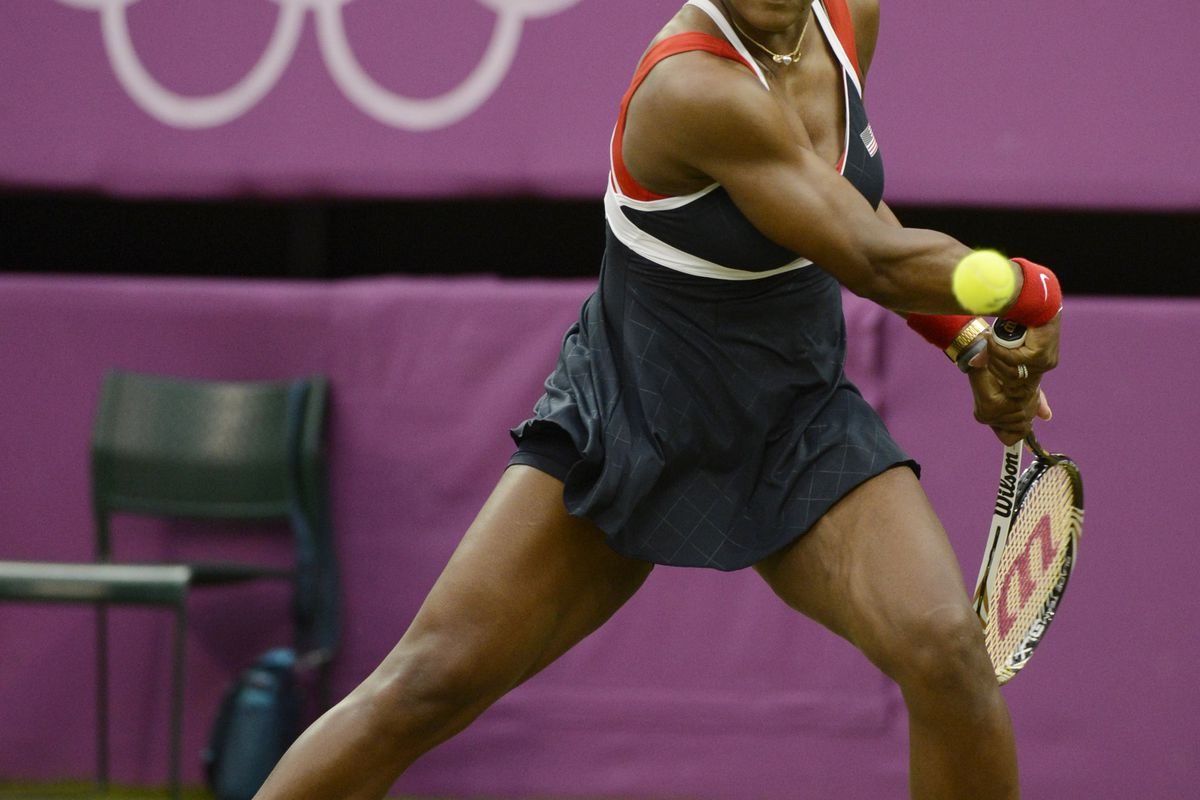 Miami Dolphins minority owner Serena Williams, here at the 2012 London Olympics, stars in a new campaign for NFL clothing.