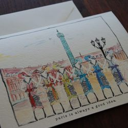 Verrier  hand-painted cards, $5