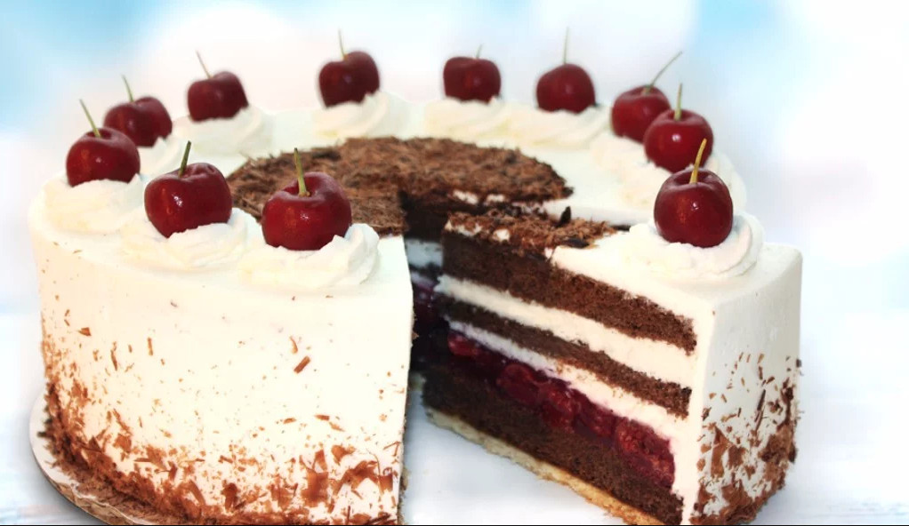 Black Forest cake at Hahdough