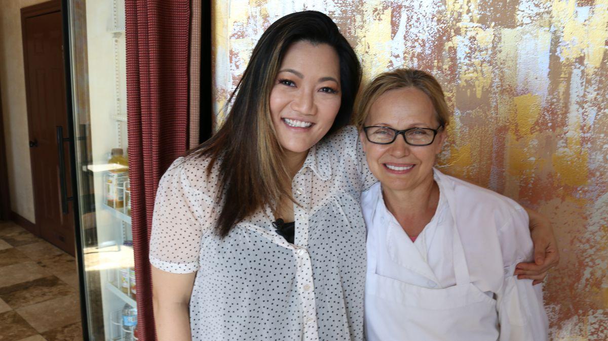 Ji Suk Yi with Helen Fedus, owner/chef at Shokolad Restaurant in Ukrainian Village. | Brian Rich/For the Sun-Times