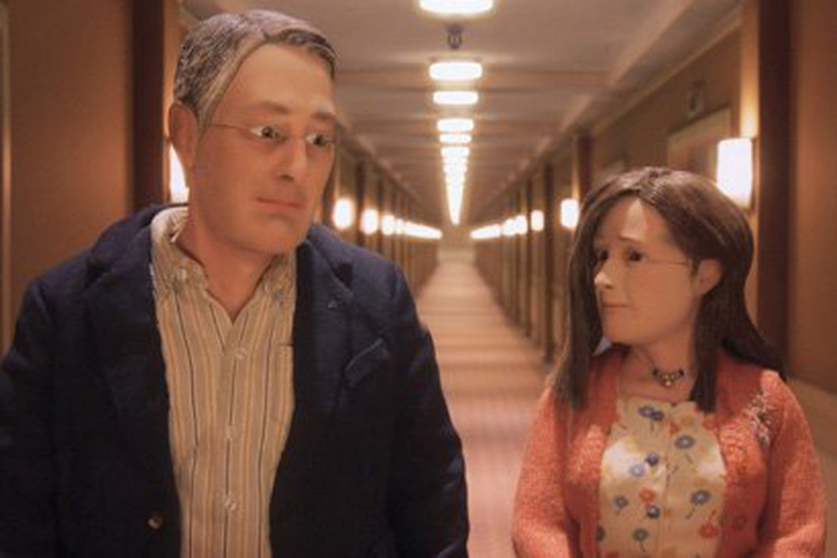 Michael (David Thewlis) and Lisa (Jennifer Jason Leigh) find love in a hopeless place.
