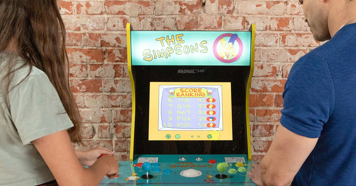 The classic Simpsons arcade cabinet is getting rereleased thanks to Arcade1Up