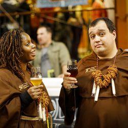 Trappists with pretzel necklaces.