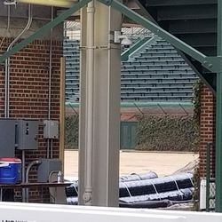 Another view inside at the right field corner