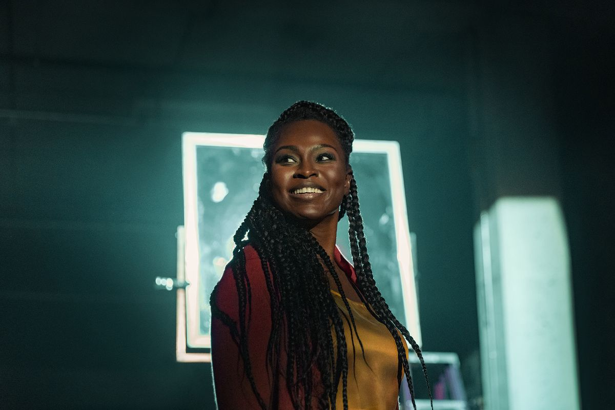 """Yetide Badaki, who plays Bilquis on STARZ's """"American Gods,"""" was introduced to the audience via a memorable scene."""