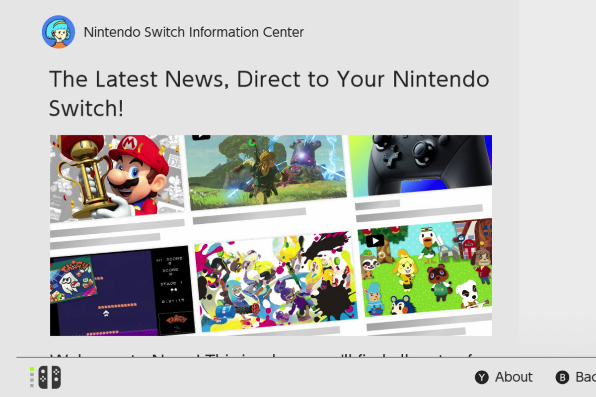 The Nintendo Switch's menus are uncharacteristically boring, for