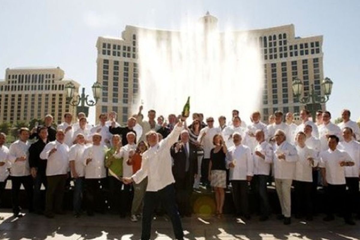 Las Vegas chefs and sommeliers celebrate the fifth annual Vegas Uncork'd by Bon Appétit at the Bellagio last year.