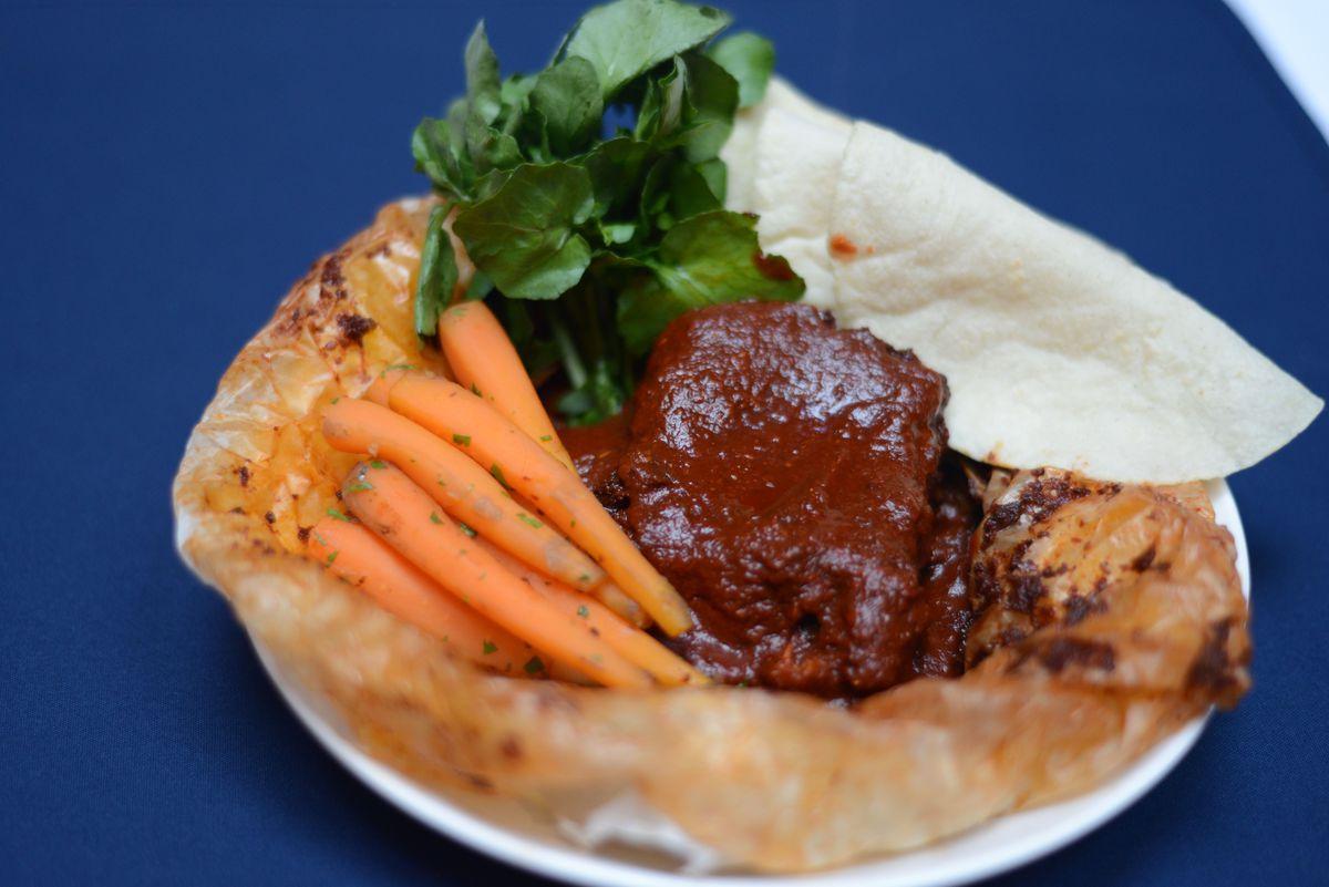 Rosa Mexicano's barbecue beef brisket