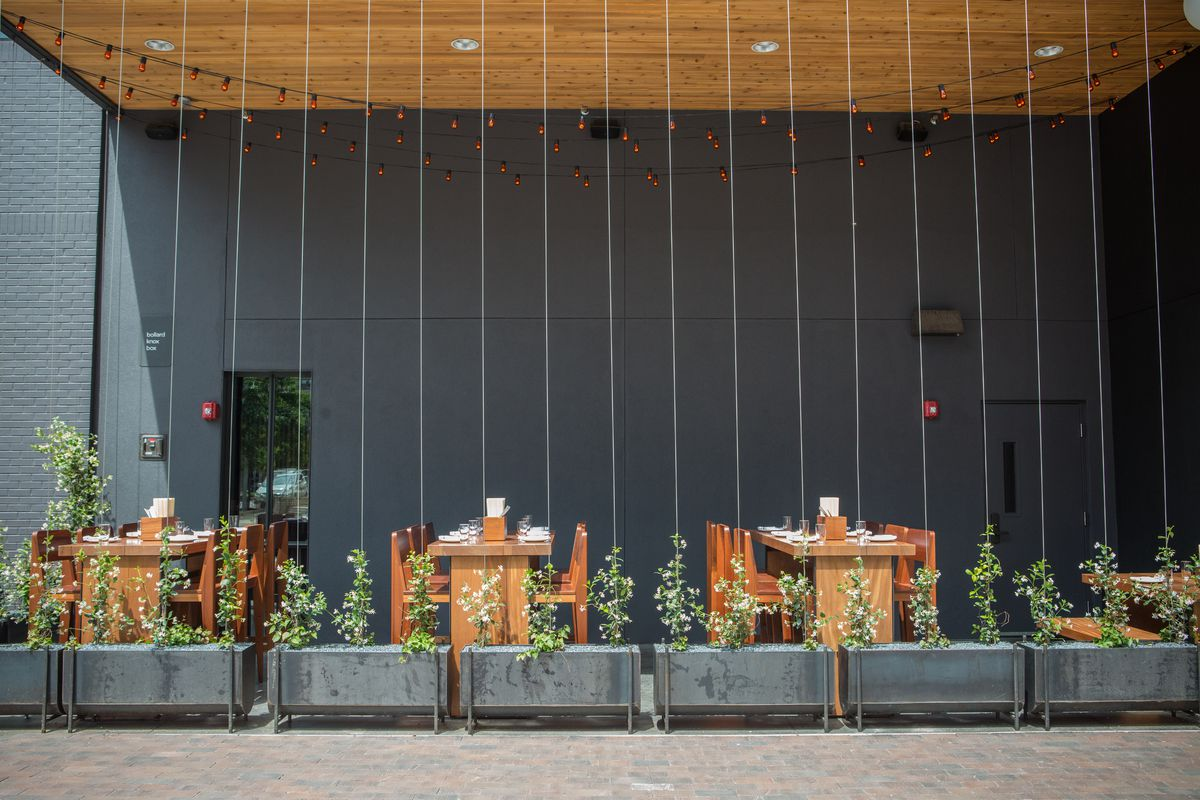 The patio at Sway