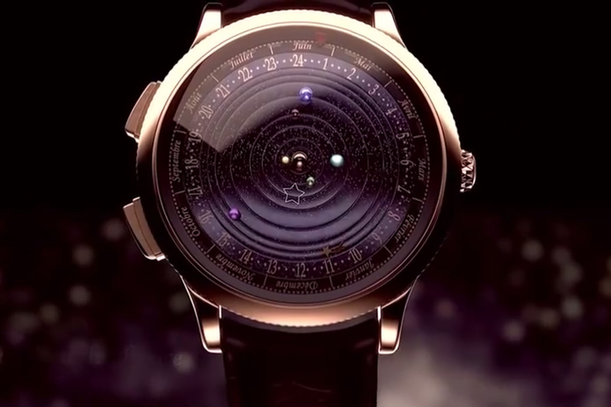 This watch puts beautifully rotating planets on your wrist ...