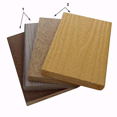 Different Texture Side Composite Decking