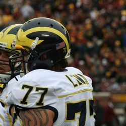 Taylor Lewan, one time Gopher verbal, future NFL tackle