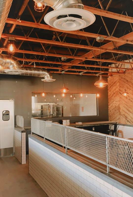 The under construction interior of Biscuits and Bourbon, coming soon to Henderson.