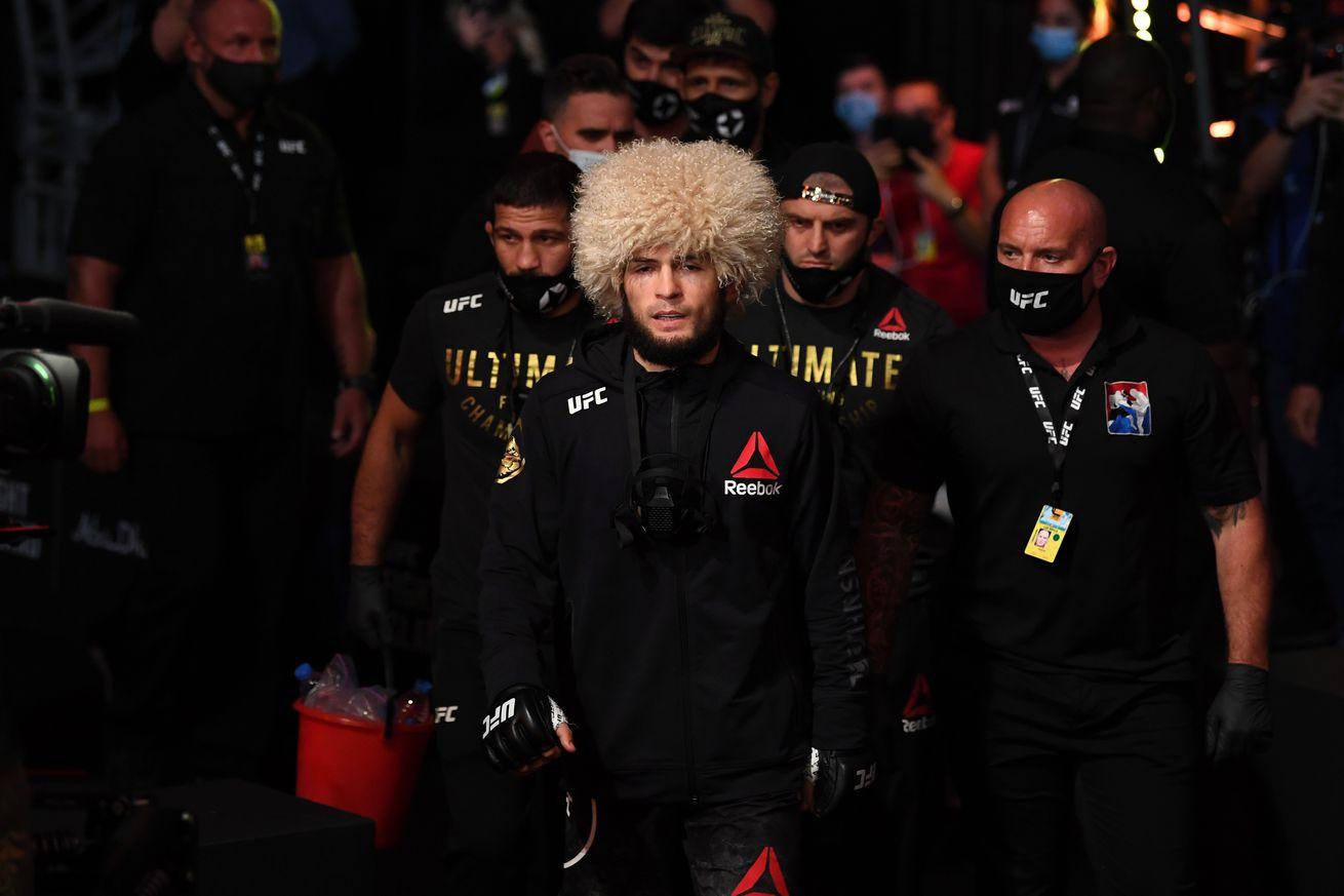 Khabib Nurmagomedov prior to his fight with Justin Gaethje at UFC 254.