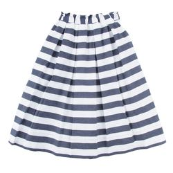 "<b>Ann Mashburn</b> awning striped gatherwaist skirt, <a href=""http://www.annmashburn.com/shop/skirts/navy-awning-stripe-ann-mashburn-gatherwaist-skirt.html"">$195</a>"
