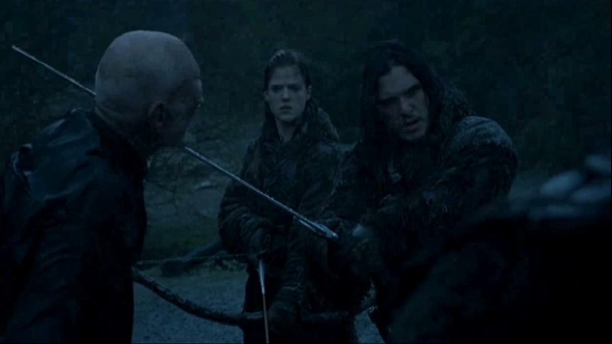 Jon Snow fails to behead a civilian