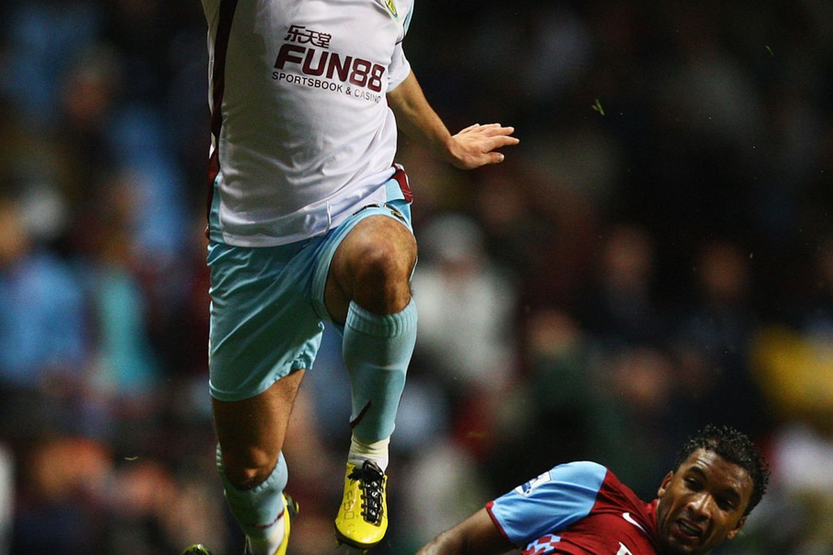 Habib Beye the way most Villa fans will remember him; being bad at football. (Photo by Matthew Lewis, Getty Images.)