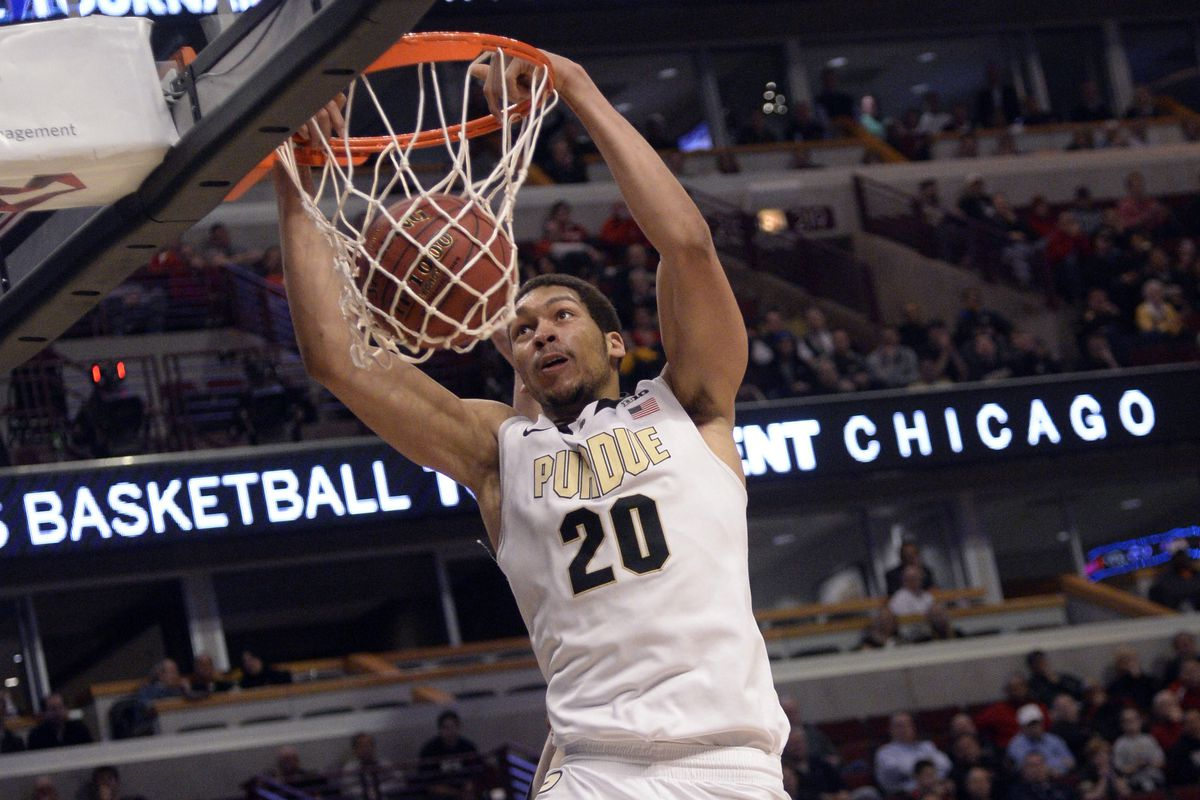 A.J. Hammons slams one down against Penn State in the Big Ten Tournament