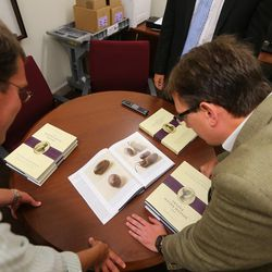 Bloggers Joe Spencer and Ben Speckman look at the new Joseph Smith papers volume. The LDS Church, in cooperation with the Community of Christ announces the release of the printers manuscript of the the Book of Mormon, during a press conference Tuesday, Aug. 4, 2015, at the LDS Church's History library in Salt Lake City.