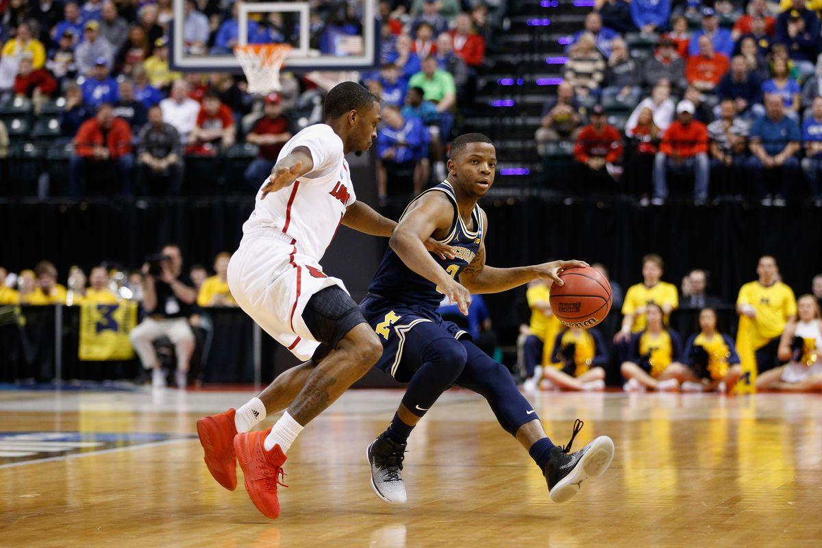 NCAA Basketball Tournament - Second Round - Michigan v Louisville
