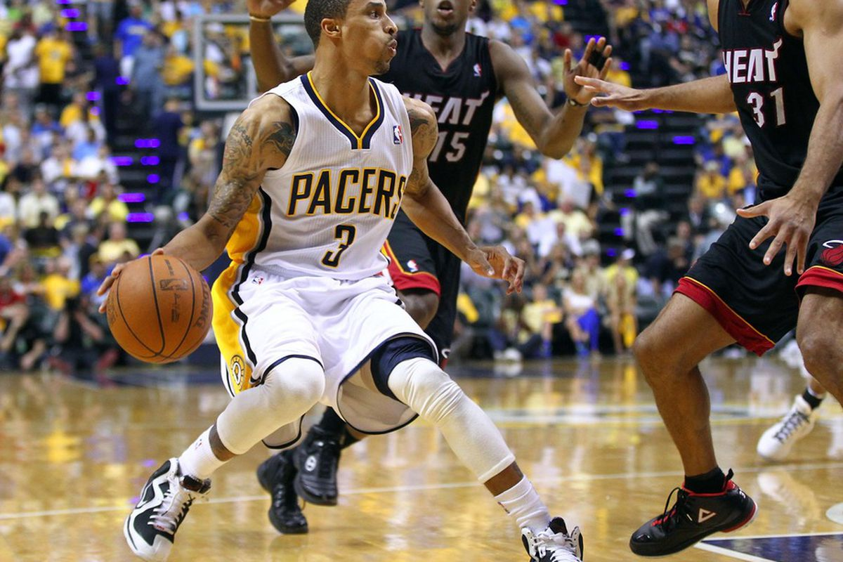 George Hill was actually swapped by the Spurs to the Pacers before the season for rookie Kawai Leonard.