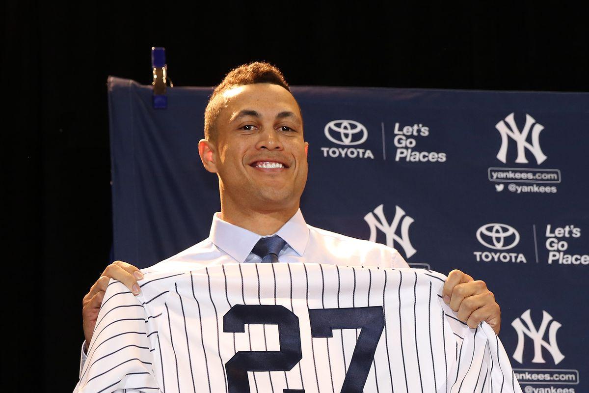 Giancarlo Stanton Introduced as New York Yankee