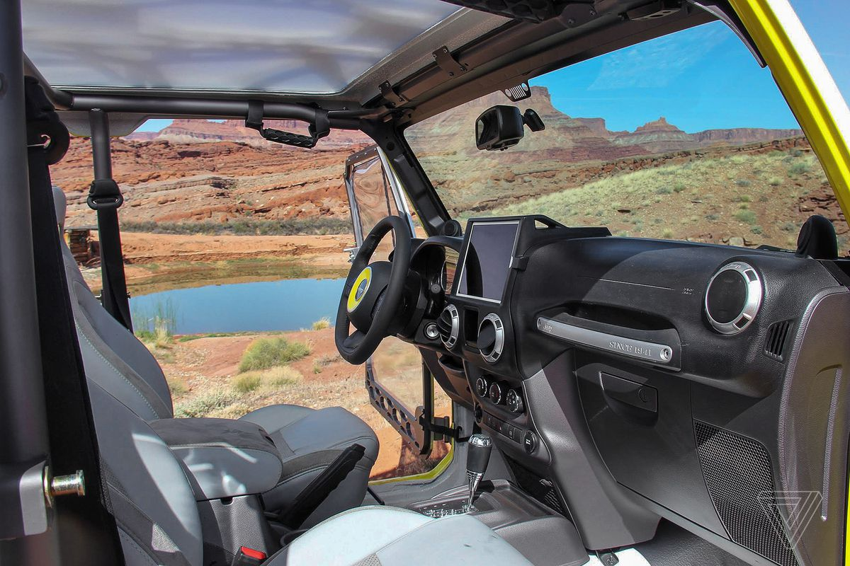 Embarking On An Easter Jeep Safari The Verge Willys Rear Seat Concept Is Aimed At Really Stretching Idea Of Technology In A Wrangler To Explore New Ways Brand Might Be Able Appeal Future Buyers