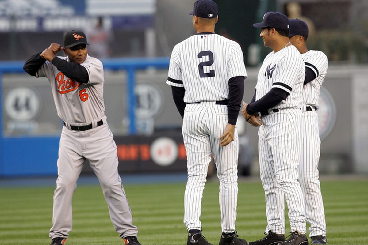 As evidenced by this picture, Melvin taught Derek Jeter everything he knows about hitting.