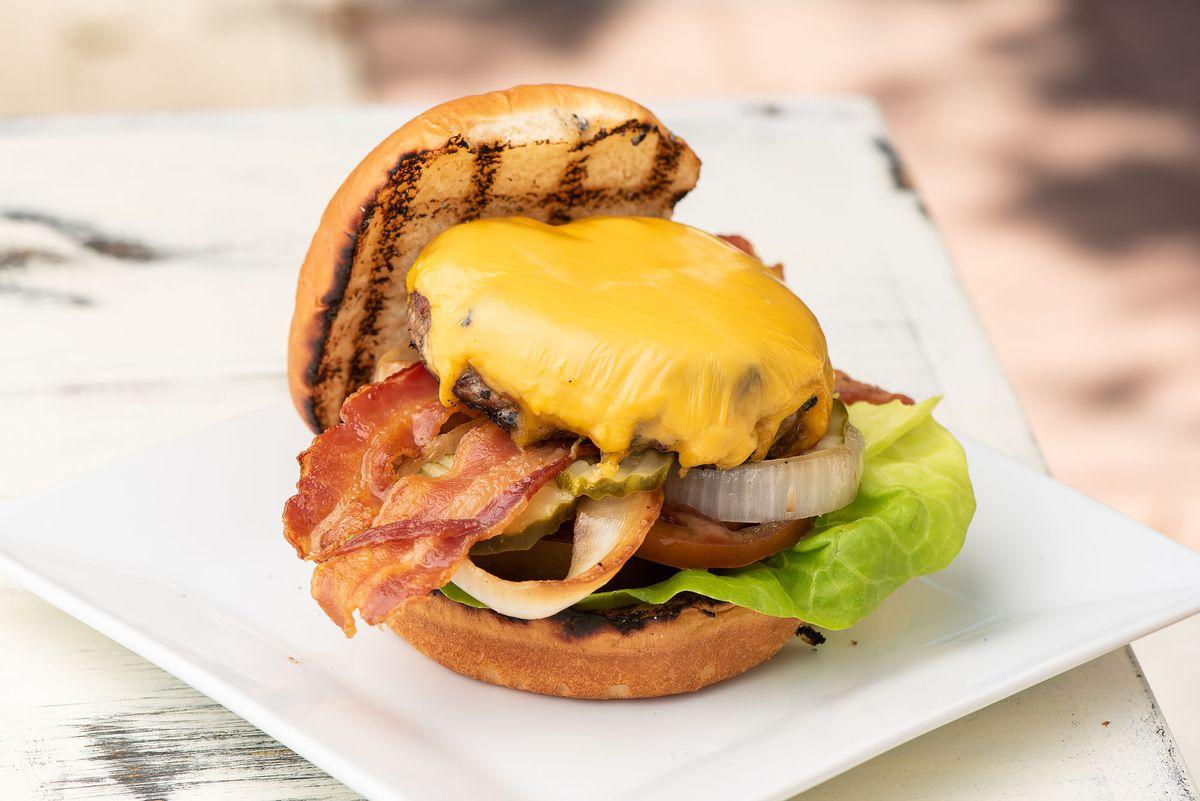 Cheeseburger with bacon at Fellow