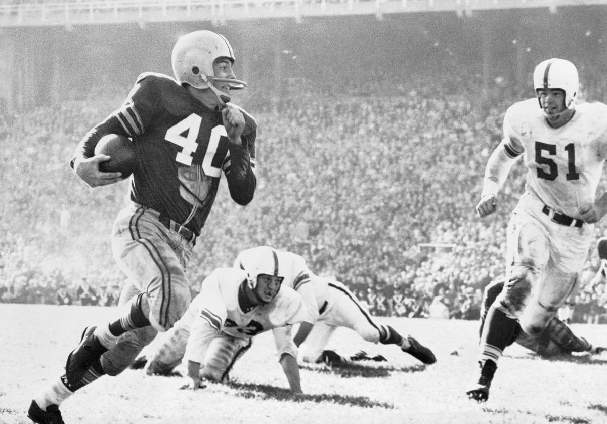Howard Cassady Running with Football