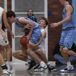 Action in the West Jordan at Taylorsville boy's basketball game in Taylorsville on Tuesday, Jan. 28, 2020.