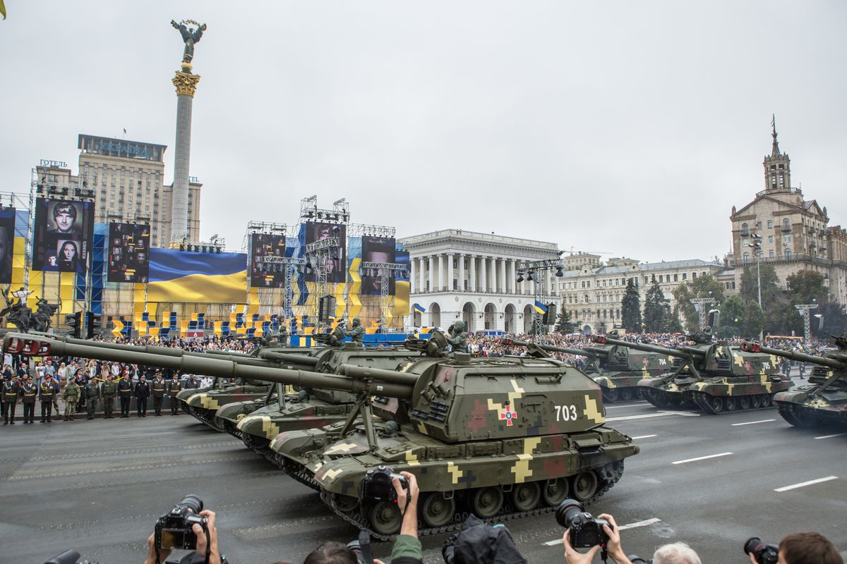 A Military Parade And Celebrations Mark Ukraine's 25th Independence Day