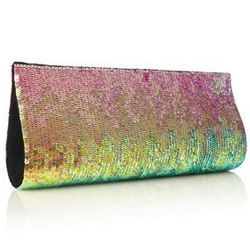 """<strong>Sizzle Sequins Clutch</strong> French Connection, <a href=""""http://usa.frenchconnection.com/product/SBCH8/Sizzle+Sequins+Clutch.htm#"""">$138</a>"""