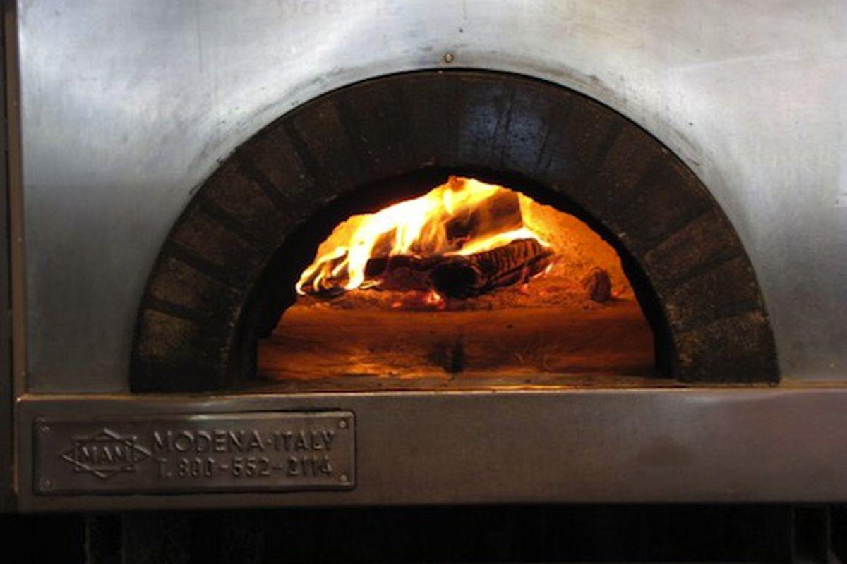 The wood stove at Cipollina.