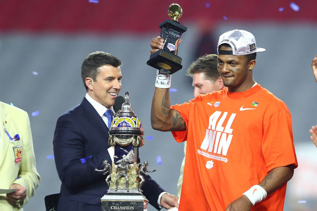 Will DeShaun Watson hold a bigger trophy come the Natty?