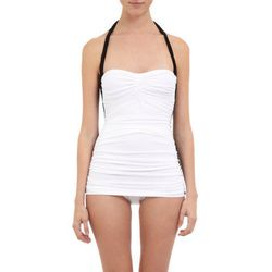 """<b>Norma Kamali</b> Two Tone Bill Mio Swimsuit, <a href=""""http://www.barneys.com/on/demandware.store/Sites-BNY-Site/default/Product-Show?pid=503164720&cgid=womens-swimwear&index=6 """">$350</a> at Barneys"""
