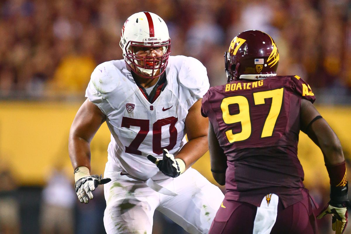 Andrus Peat (70) of Stanford has declared for the 2015 NFL Draft.