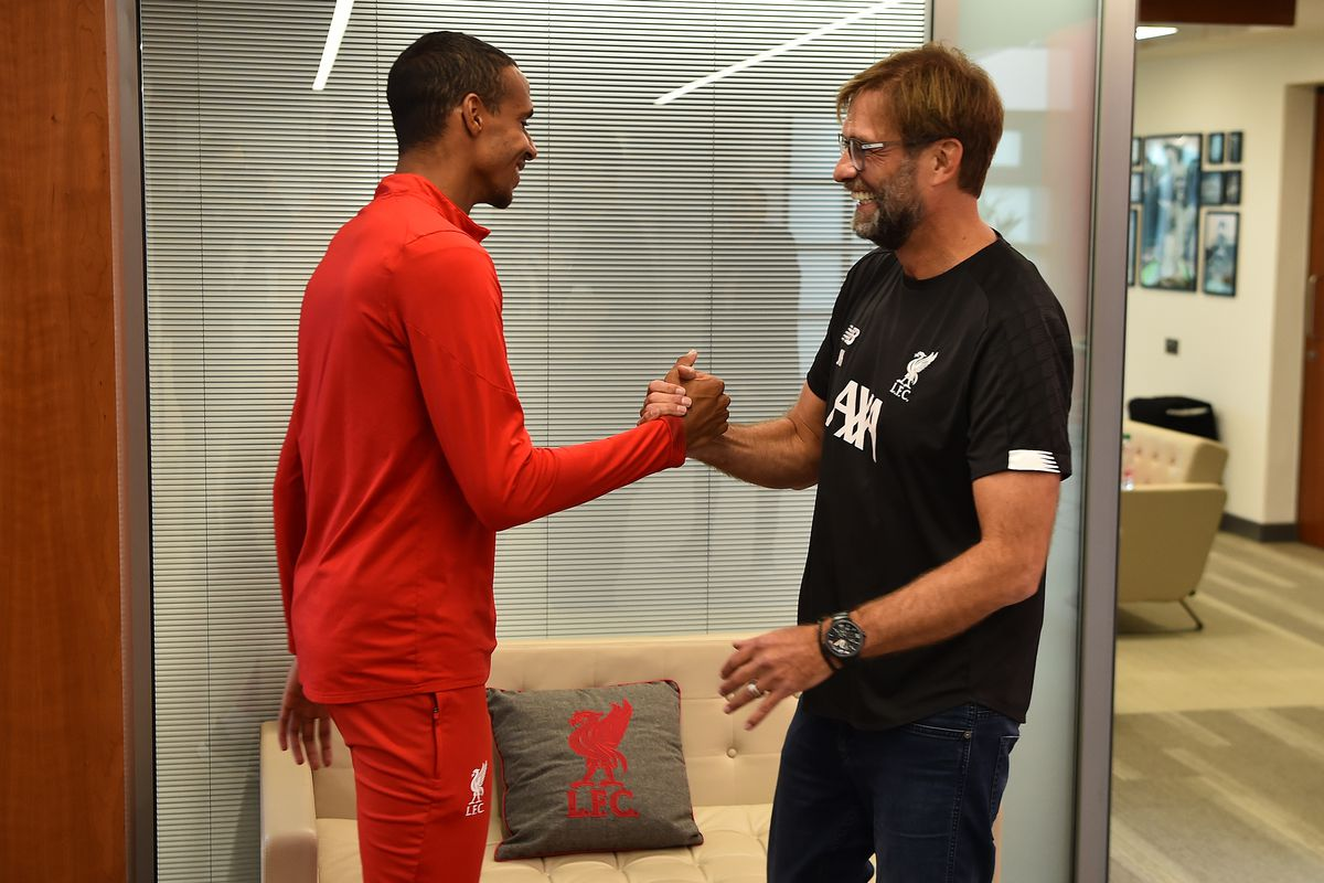 Joel Matip Signs Contract Extension Liverpool Training Session