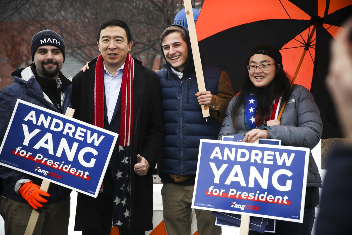 Image result for Andrew Yang drops out of 2020 presidential race