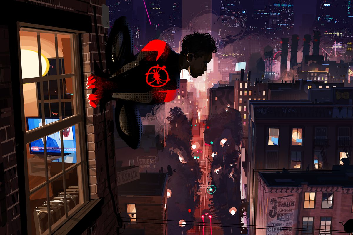 Concept art from Spider-Man: Into the Spider-Verse
