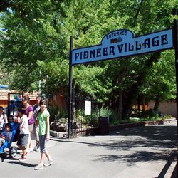 Pioneer Village is a relatively peaceful enclave within the bustling Lagoon amusement park. It has been a landmark since the 1970s, after being purchased from the Sons of Utah Pioneers and relocated to Farmington.
